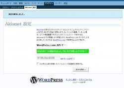 WordPress.com API キー入力