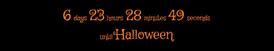 Halloween Countdown の出力例