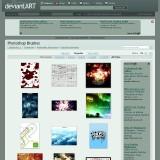 Browsing Photoshop Brushes on deviantART