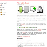 strawbee  » Blog Archive   » Tiny Little Icons