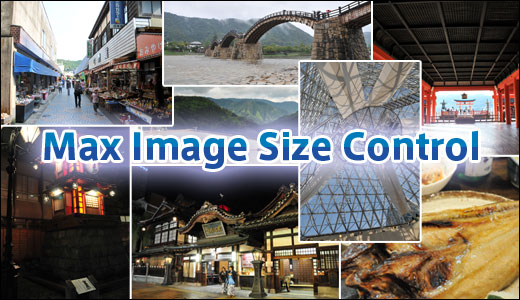 Max Image Size Control plugin