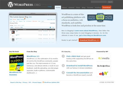 WordPress.org オフィシャルサイト