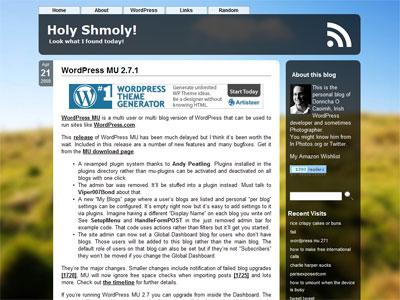 Holy Shmoly! » WordPress MU 2.7.1