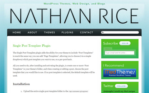 Single post template for Wordpress single post page template