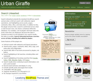 Search Unleashed - Advanced WordPress searches with highlighting | Urban Giraffe
